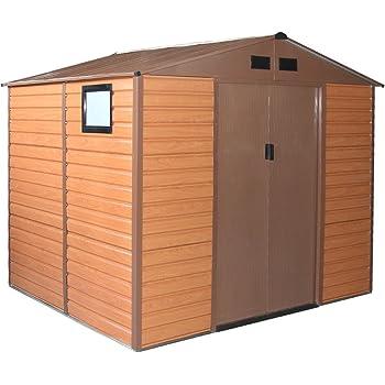 Box Casetta casa giardino doppio spessore lamiera 277x191xh218cm FOREST L-PLUS
