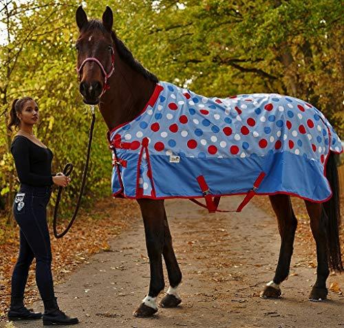 Tysons Breeches  Outdoordecke 1200 D Points Regendecke Winterdecke ohne Füllung Fleece unterlegt 145 155 (Halsteil, 155 cm)