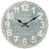 Something Different Horloge bleue motif plage