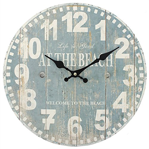 Something Different Horloge bleue motif plage