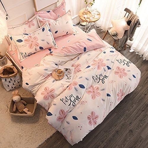 DACHUI Kleine, frische und einfachen Stil Baumwolle Velours Betten vier Anzug, Peach Blossom, 220 * 240 cm (Die Blossom Bettdecke)