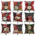 Xshuai Frohe Weihnachten Schneemann Druck Färben Sofa Bett Home Decor Kissenbezug Kissenbezug (Multi Typ A / B / C / D / E / F / G / H / I) von Xshuai - Gartenmöbel von Du und Dein Garten