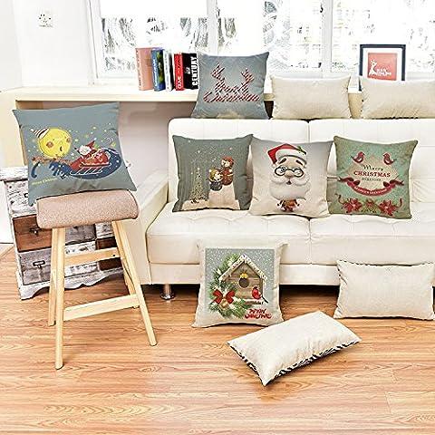 CAROLWU Il Nuovo Natale Biancheria Per La Casa Timbro Cuscino Cuscini Sedile , E , 45*45 Matt Denim