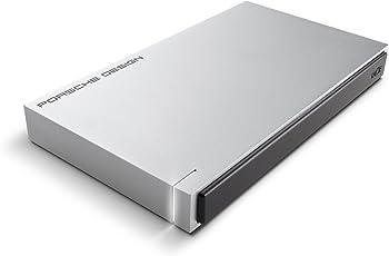 LaCie 1TB Porsche Design USB 3.0 Portable 2.5 inch External Hard Drive for PC and Mac - Light Grey