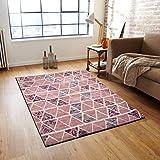 Desirica Jacquard Woven Modern Polycotton Carpet - Multicolour