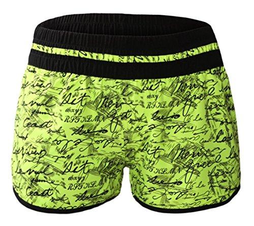 Lukis Damen Badeshorts Sommer Hot Pants Strand Hose Gelb