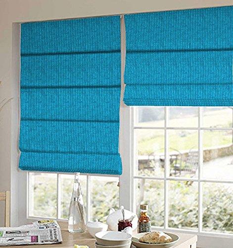 PRESTO BAZAAR 1 Piece Polyester Stripes Blind - Blue
