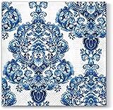 20 Servietten Porzellan Design / Muster / Ornamente 33x33cm