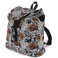 MUSAA Geometry Leather Womens Purse Backpack Diamond Pattern Backpacks(Printing)