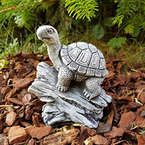 Steinfigur Schildkröte frostfest Deko Garten Terrarium Zubehör