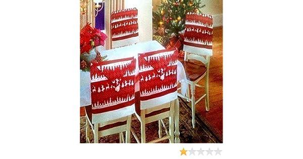 Sedie Decorate Per Natale : Copri schienale sedia motivo nordico cappello di babbo natale