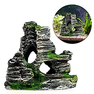 GOOTRADES Aquarium Rockery Rock Hide Cave Fish Tank Artificial Decoration 3