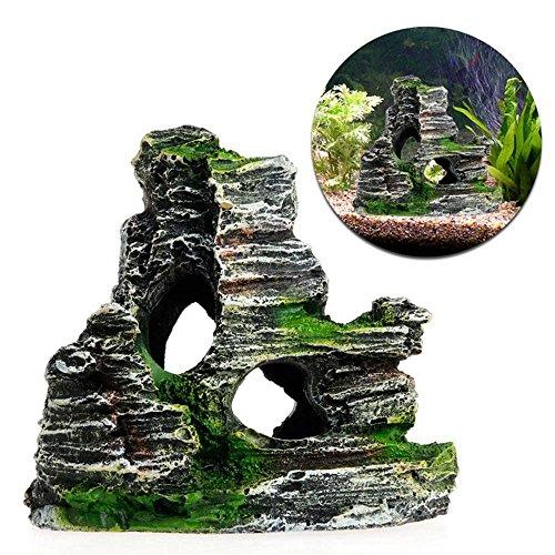 GOOTRADES Aquarium Rockery Felsen Verstecken Höhle Fisch Tank Kunstliche - Höhle Dekoration Aquarium