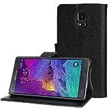 Bingsale Etui Cuir PU pour Samsung Galaxy Note 4 Coque housse (Samsung Galaxy Note 4, noir)