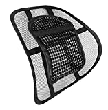 LORDOSENSTÜTZE mit einstellbare Krümmung! Rückenstütze Rückenkissen für Autositz oder Bürostuhl