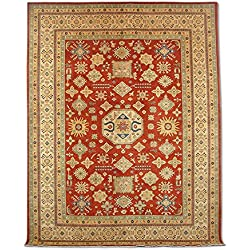 Pak Persian Rugs Handgeknüpfter Kazak Teppich, Rot, Wolle, 273 X 358 cm
