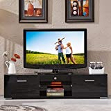 UEnjoy TV Unit 160CM Black TV Cabinet High Gloss TV Stand Unit 2 Drawers and 2 Shelves FREE LED RGB Ligh ts Brand Name: UEnjoy