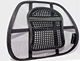 A&B HOMEWARE© High Quality Chair Back Support System Sit Right with Elasticated Positioning Strap and Mesh Lumbar Support Cushion for Car Seat or Chair Back Rest