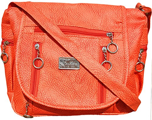 Typify Women & Girls Casual College Office Stylish Latest Sling Bags (Leather Peach)