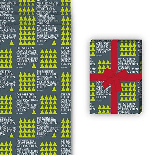 Tucholsky Weihnachts-Geschenkpapier Set - 3