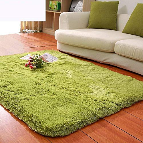 Über Living Room Coffee Table (Velvet living room coffee table carpet bedroom bedside bay window office full shop silk porch carpet customizable size-Tea green,200 * 300CM)