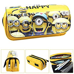 Estuche Escolar La caja de lápiz para la escuela dos compartimentos Minions Gru: Mi villano favorito 3 Happy
