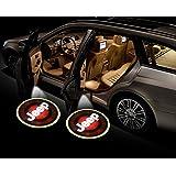 جهاز عرض ضوئي لباب السيارة من Smilee ، قطعتان من مصابيح السيارة مع شعار Maker ، مصباح ظل LED (جيب)