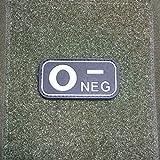3di D Rubber Patch–Gruppo Sanguigno 0–NEG Zero Sangue negativo Esercito Einsatz rilevamento NERO Paracadutisti uniforme Distintivo Army 5x 2,5cm # 16265