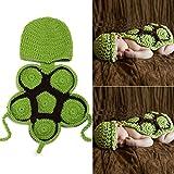 sunfire Karton Schildkröte Crochet Knit Kostüm Fotografie Prop Outfits Baby Junge Mädchen Kleidung Schildkröte grün