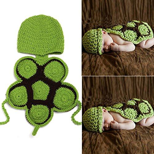 sunfire Karton Schildkröte Crochet Knit Kostüm Fotografie Prop Outfits Baby Junge Mädchen Kleidung Schildkröte (Baby Schildkröte Kostüm Crochet)