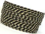 KORDEL 50m x 2mm schwarz - gold Drehkordel KORDELBAND Dekoband Trauerkordel Trauerband