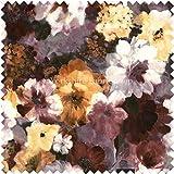 Blumenmuster Braun Print Samt Polsterung Neue ideal für