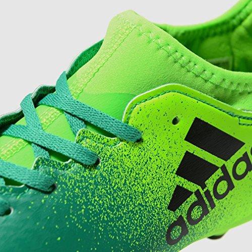 adidas X 16.3 Fg J, Chaussures de Football Mixte Enfant green