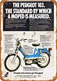 Wise Degree Metal Poster Peugeot 103 Mopeds Metall Poster Wand Küche Kunst Cafe Garage Shop Bar Dekoration
