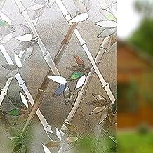 Rabbitgoo® Pegatina de Ventanas Adhesiva Pegatina Privacidad Efecto 3D Decorativa para Cristal Pelicula Decorativa Electrostática para Ventana 90cm*200cm
