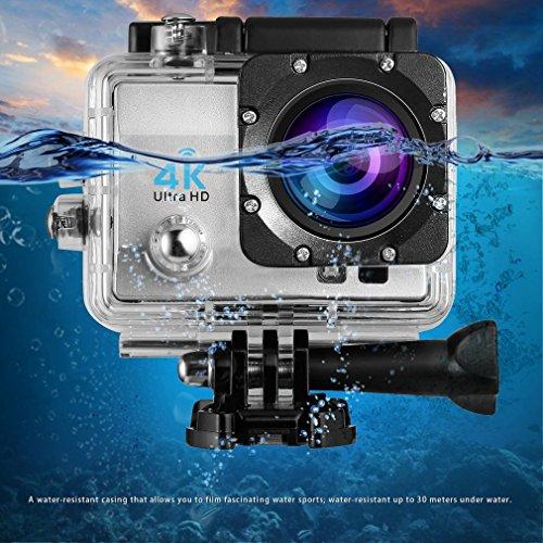 Caméra Sport FULL HD, Footprintse Kit Caméra Sport 4K WiFi 1080p/60fps Full HD Caméra d'Action 2.0 Appareil photo LCD DV Sport Imperméable à l'eau
