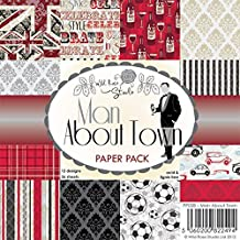 Wild Rose Studio 6x6 Paper Pack, Man about Town