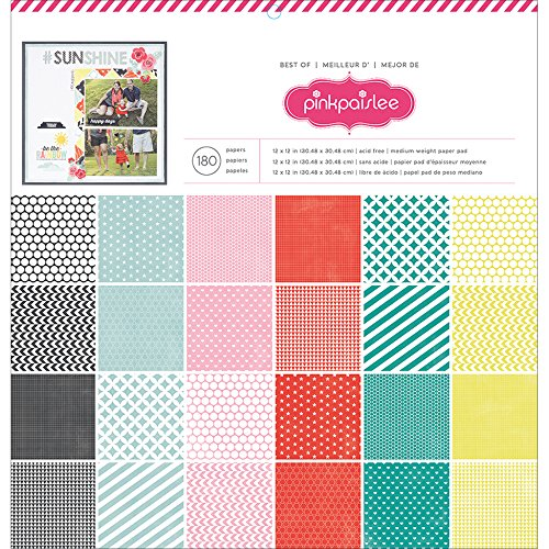American Crafts Papier Pad 12Zoll x 12Zoll 180kg Best of Pink Paislee -