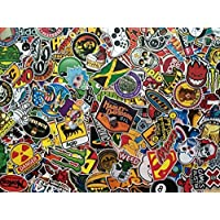 Lote de 50 pegatinas mini skate, anime, héroe, marcas, doodle, popular, deco, scrapbooking