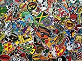 Lot de 50 mini stickers skate, anime, héros, marques, doodle, populaire, déco, scrapbooking