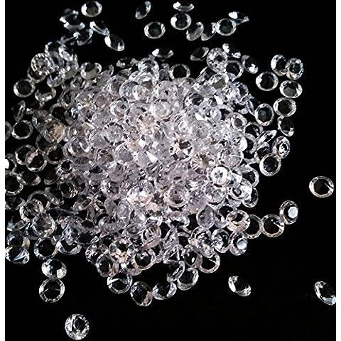 Diamante Confetti Festa Di Nozze Baby Shower Festa Decorazione acrilico decorativo diamante Gems circa. 6mm, 1000, 2000, 4000, 10000o 20000in trasparente, blu royal, rosa, rosso o argento, Acrilico, transparent, Approx. 6mm
