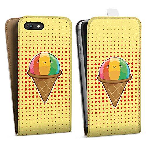 Apple iPhone X Silikon Hülle Case Schutzhülle Eis Regenbogen Sommer Downflip Tasche weiß