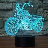 USB LED 3D Lampe LED Motorrad Modell 3D Sensor Nachtlicht Atmosphäre Lampe als Schlafzimmer Dekoration
