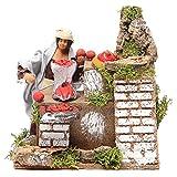 Frau mit Tomaten 10cm bewegliche Krippenfigur