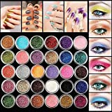 HENGSONG Glitter Eyeshadow 30 Farben Mix Glitter Puder Lidschatten Eyeshadow Kosmetik Schminke Makeup Set