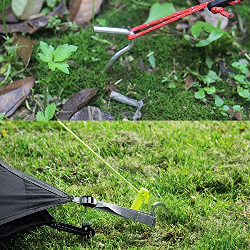 """61bIaegiOjL. SS500  - AVESON 10pcs 7"""" 18cm Aluminum Alloy Tent Pegs Stakes Nail for Outdoor Camping Trip Hiking, Silver"""
