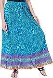 Ceil Women's Cotton Skirt (Turquoise)