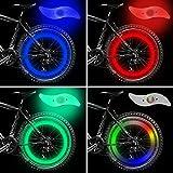 vimmor doble cara bicicleta habló luz viento fuego ruedas Gel de sílice radios luz lámpara de alambre de acero bicicleta rueda luz para bicicleta de montaña para bicicleta de montaña, Red+Blue+Green+Multi-color