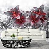 murando - Fototapete 400x280 cm - Vlies Tapete - Moderne Wanddeko - Design Tapete - Wandtapete - Wand Dekoration - Blumen Lilien b-A-0300-a-b