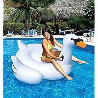 marketboss Cool kickboards Swan piscina gonfiabile Zattera galleggiante grande con manici a risparmio energetico per bambini o adulti grande giocattolo per sport acquatici contenere fino a 440lbs–-- 1,5x 14,9x 0,9m
